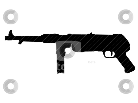 Ww2   Sub Machine Gun Stock Vector Clipart Ww2 Series   German Mp38