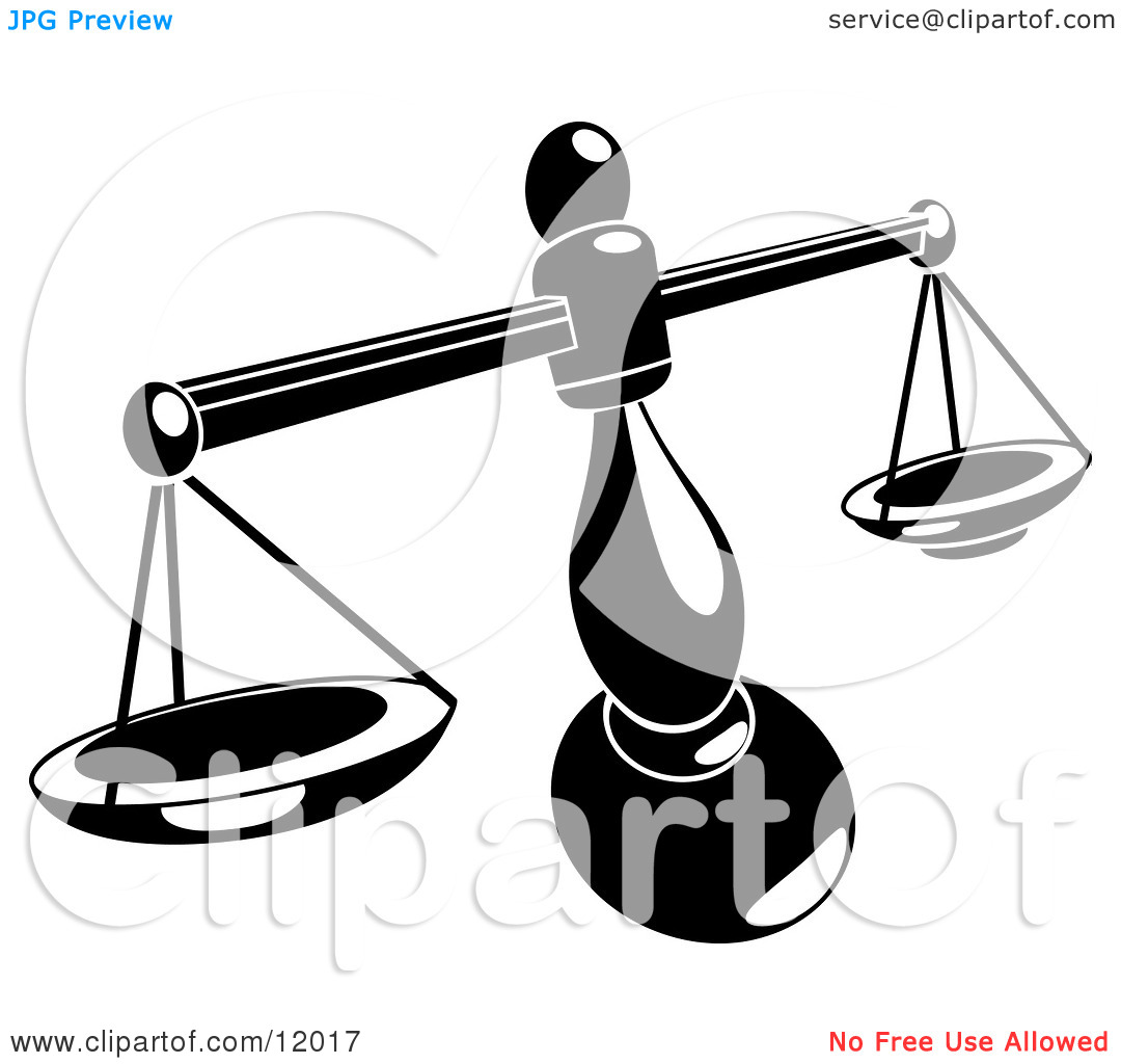 Balancing Weighing Scale Clipart Illustration By Geo Images  12017