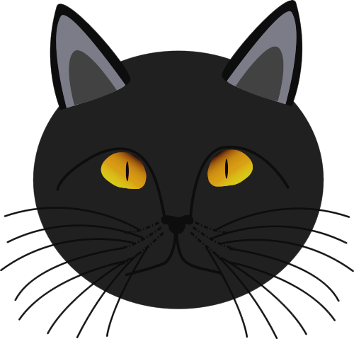 Black Cat Face   Http   Www Wpclipart Com Holiday Halloween Cat More