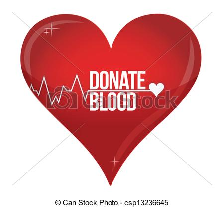 Blood Donation Medicine Help Hospital Save Life Heart Illustration