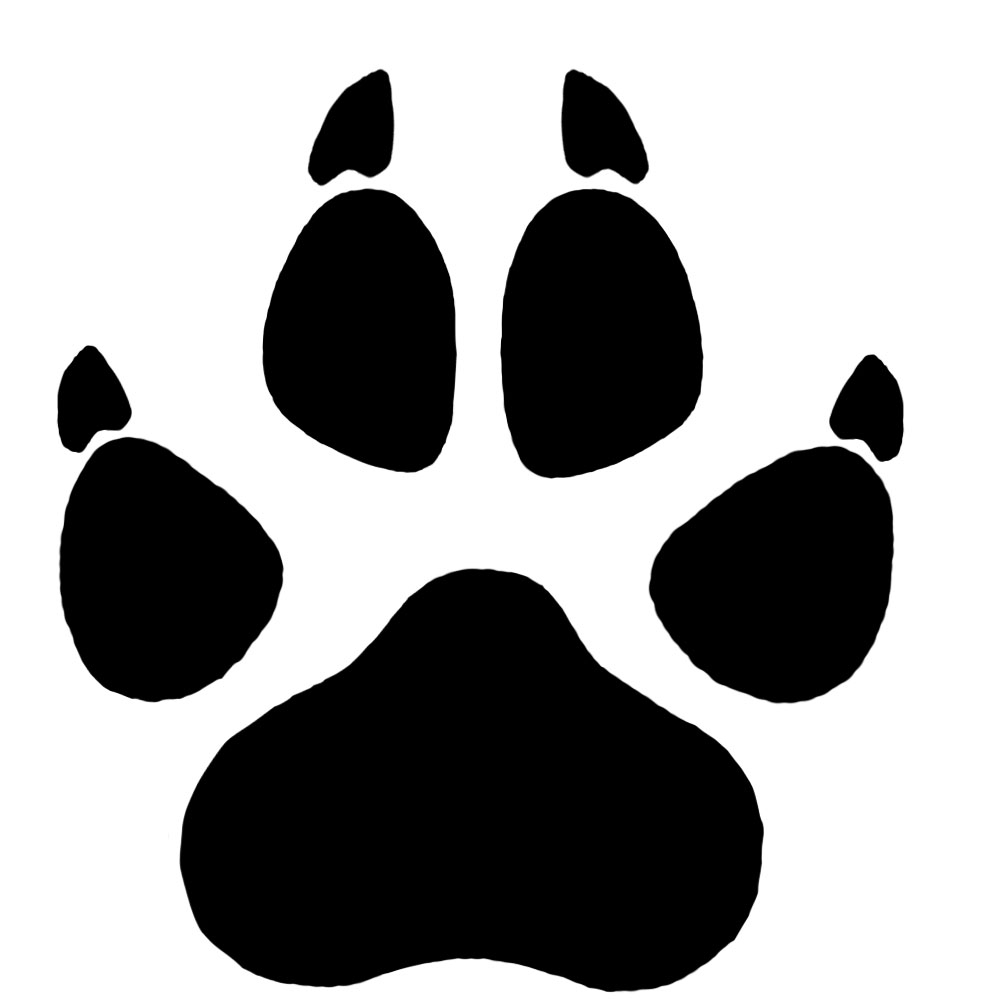 Wolf Paw Print Clipart - Clipart Kid