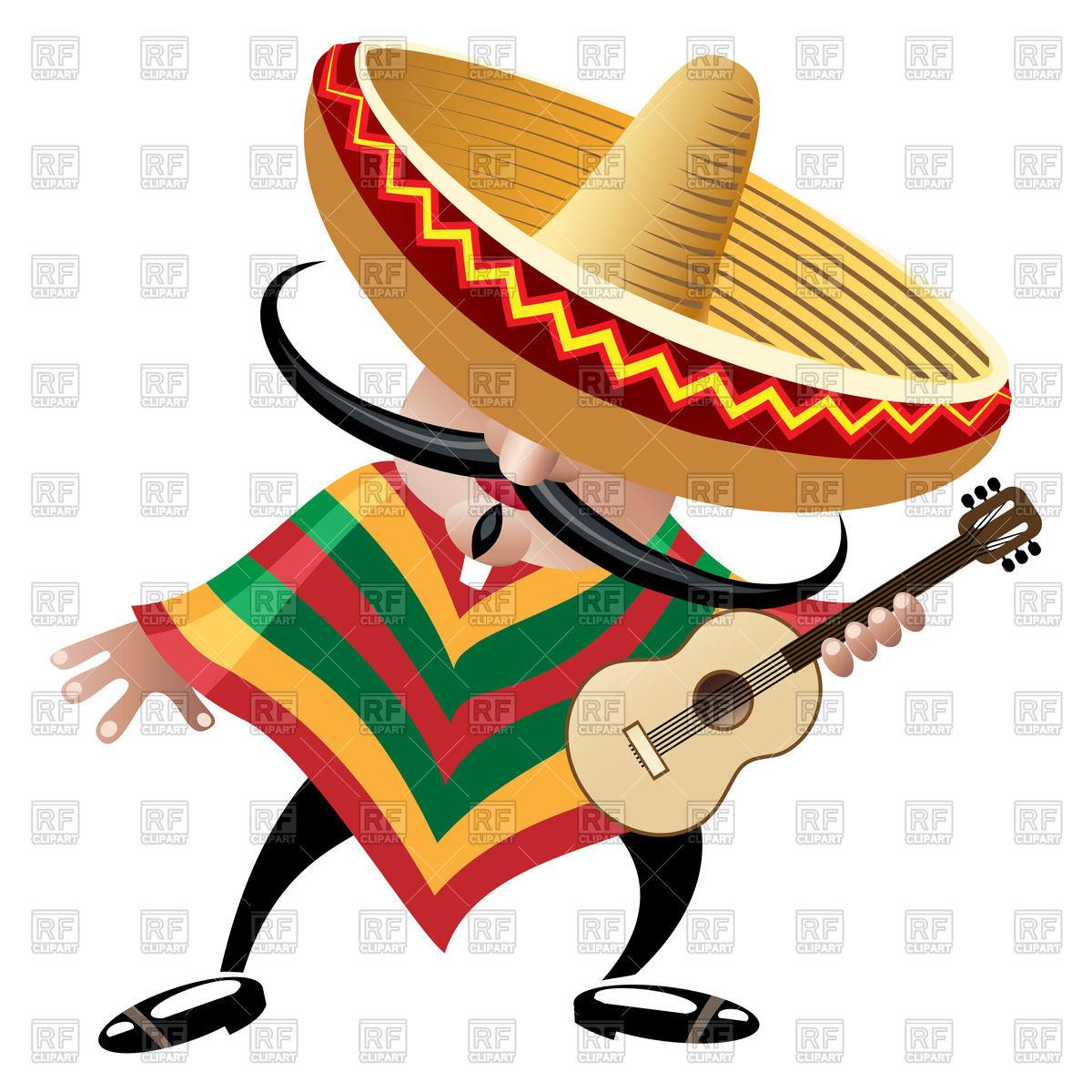 Sombrero Guitar Clipart - Clipart Kid