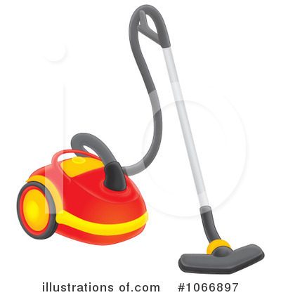 Cartoon Woman Cleaning The Floor Royalty Free Clip Art Image