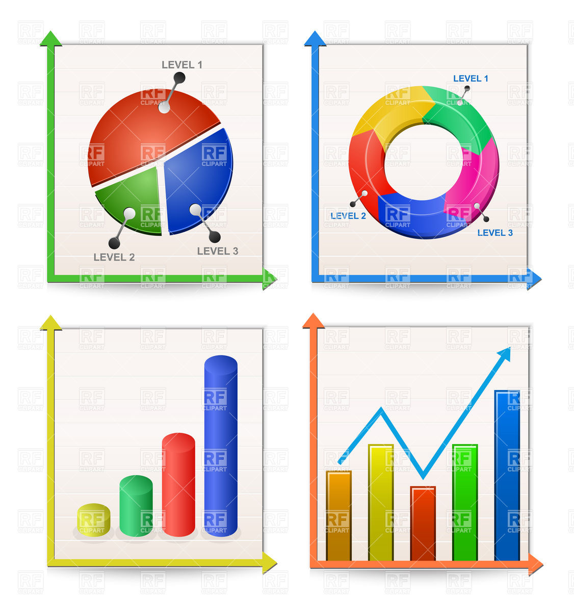Graphs Collection 5504 Download Royalty Free Vector Clipart  Eps