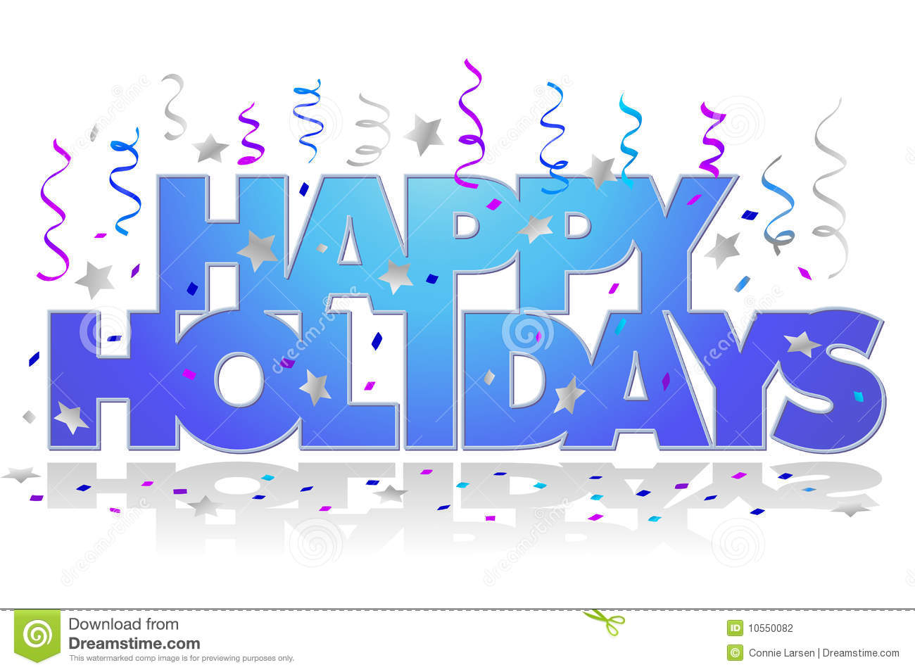 Happy Holidays Clip Art Free Happy Holidayseps Stock Photography