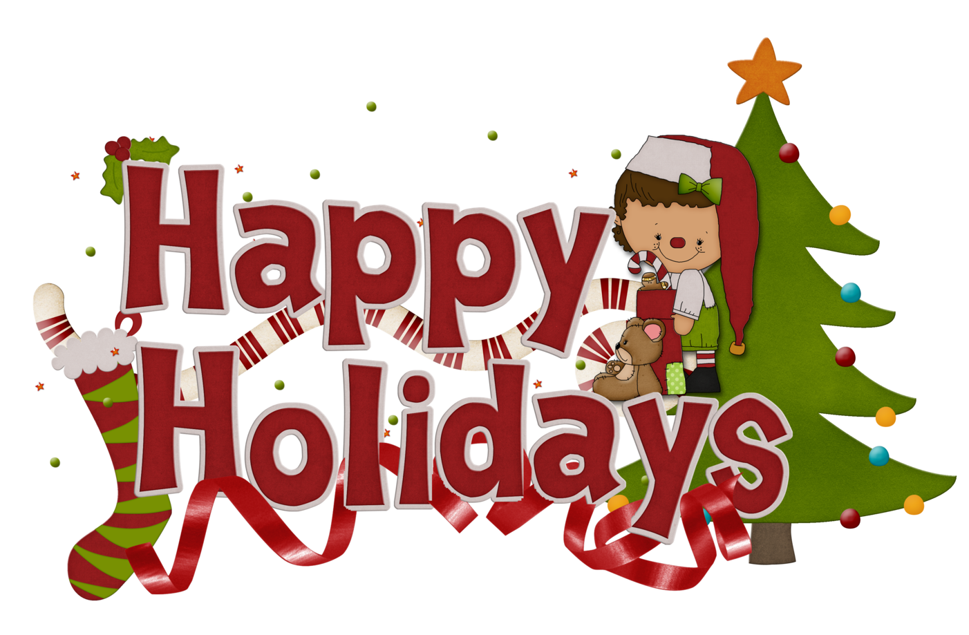 Happy Holidays Clip Art Free