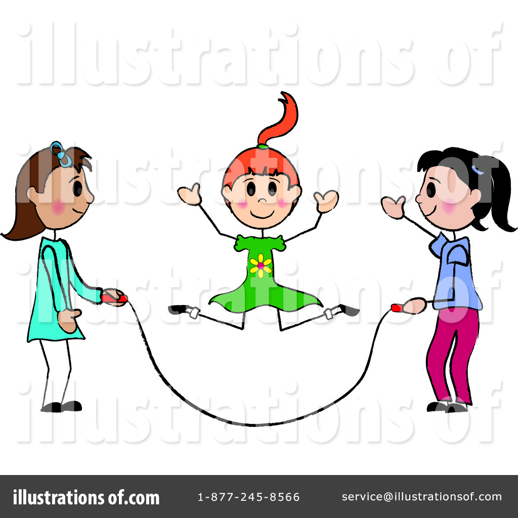 Jump Rope For Heart Clip Art   Coloring Book For Kids