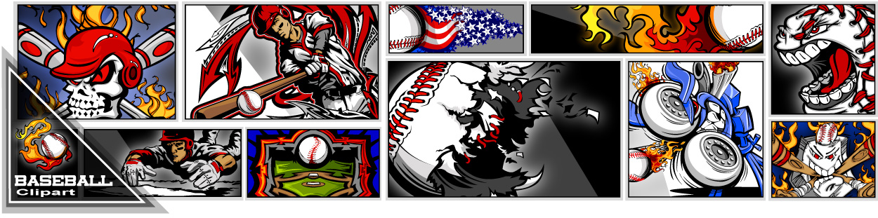 Linkedin Fastpitch Softball Silhouettes Logo Clipart Design