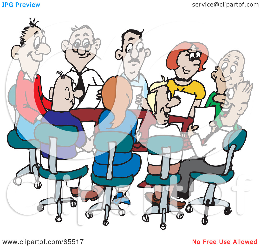 Funny Office Meeting Clipart - Clipart Suggest