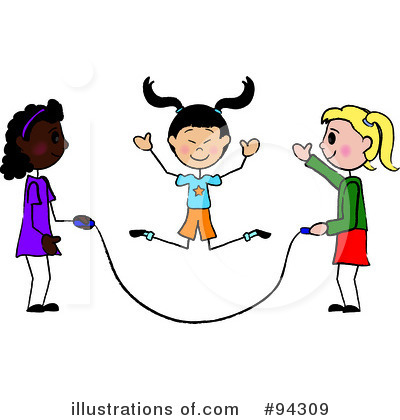 Royalty Free  Rf  Jump Rope Clipart Illustration By Pams Clipart