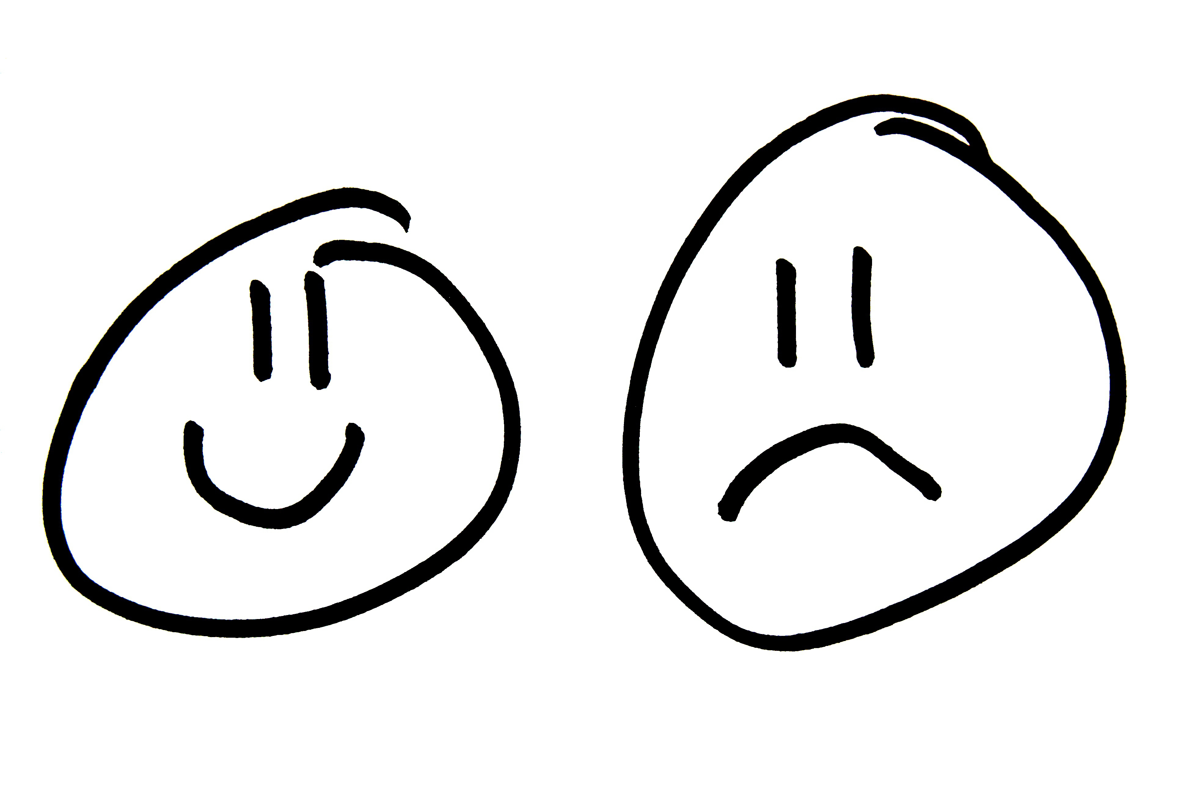 Sad Face Clipart Black And White   Clipart Panda   Free Clipart Images