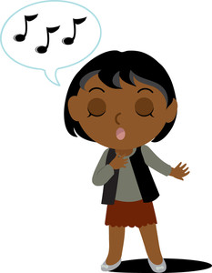 Singing Clipart Image   Clip Art Illustration Of An African American