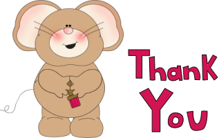 Thank You Mouse Clip Art Image   Thank You Mouse Clip Art Clip Art