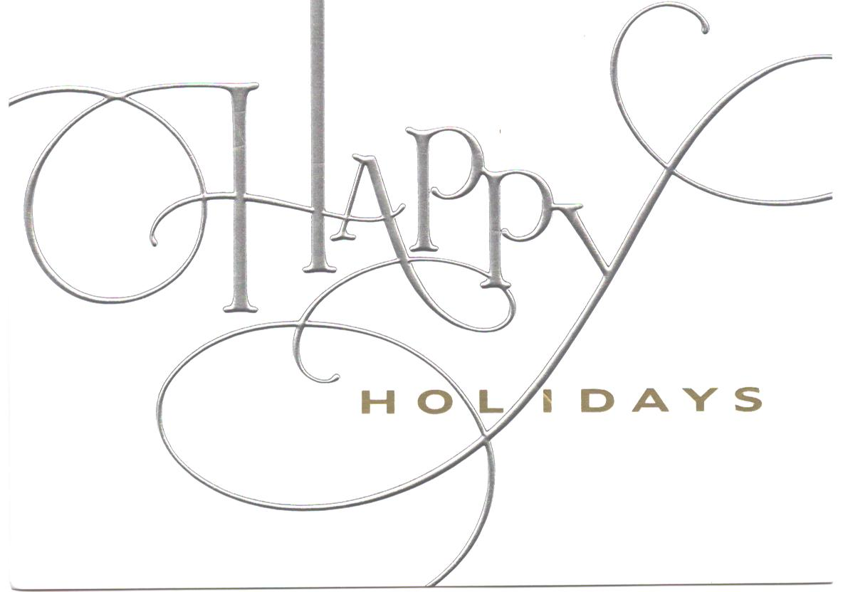 Happy Holidays Black And White Clipart - Clipart Kid