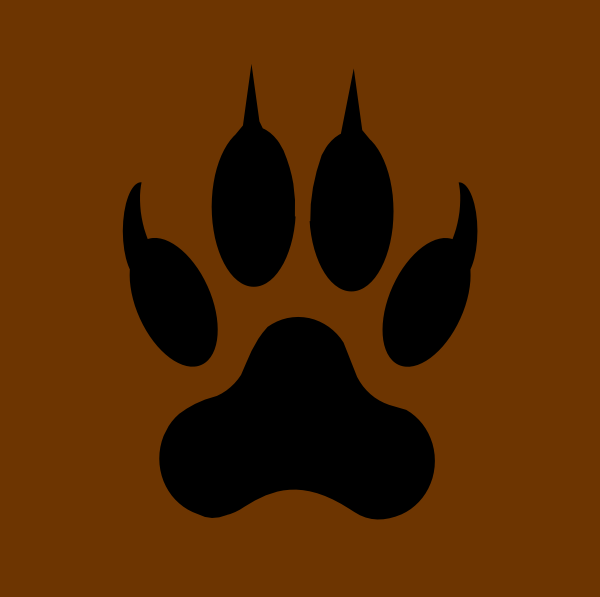 Wolf Paw Print Clip Art At Clker Com   Vector Clip Art Online Royalty