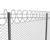 Chain Link Fence Gate Clipart Chainlink Fence With Barbed