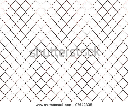 Chain Link Fence Gate Clipart Rusty Chain Link Fence