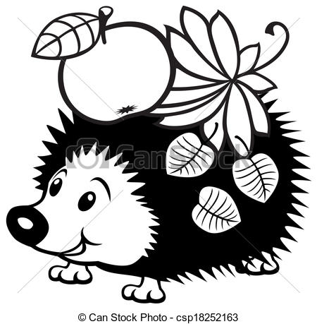 Hedgehog Black And White Clipart - Clipart Kid