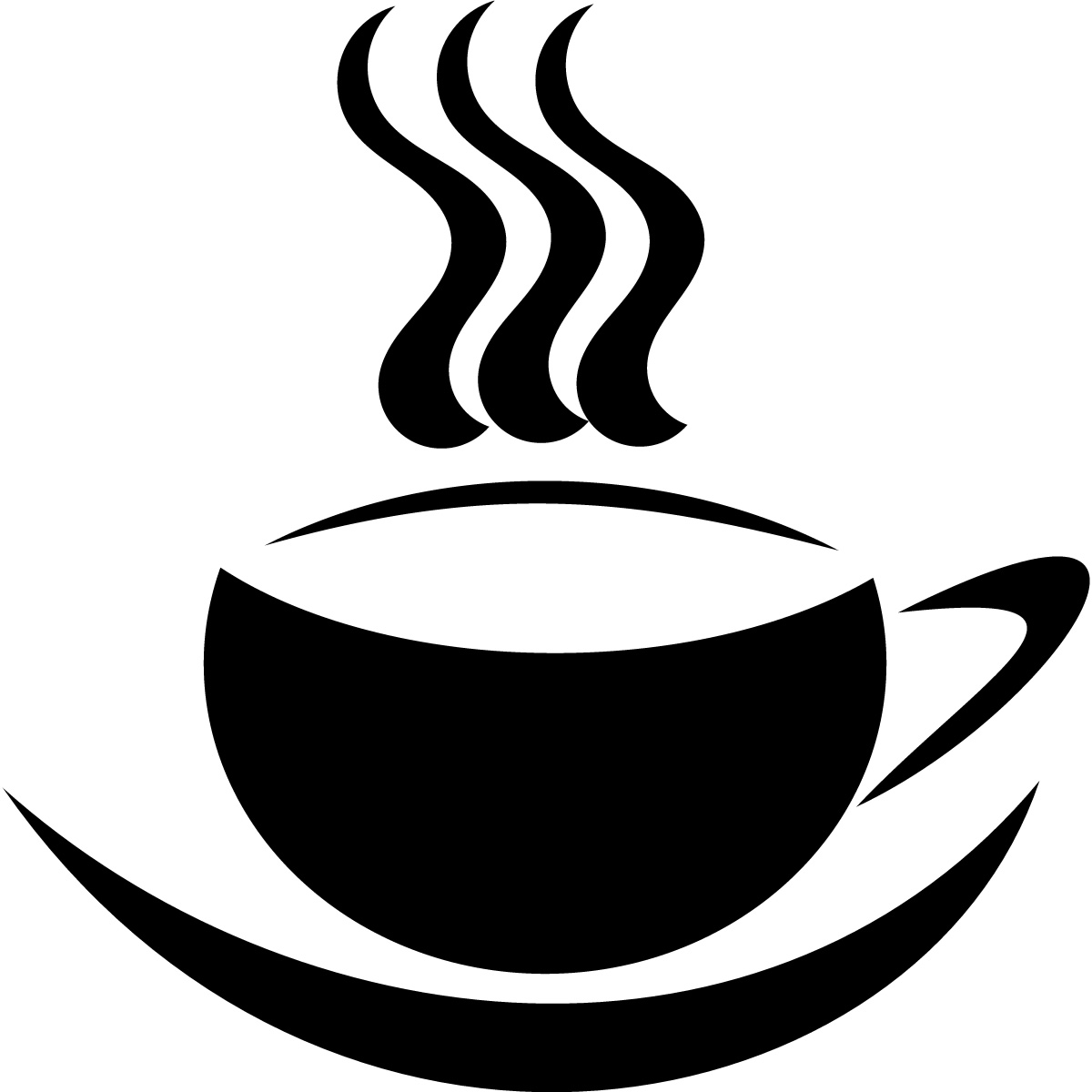 Coffee Cup And Saucer Steaming Print Wall Art Sticker Transfers   Ebay