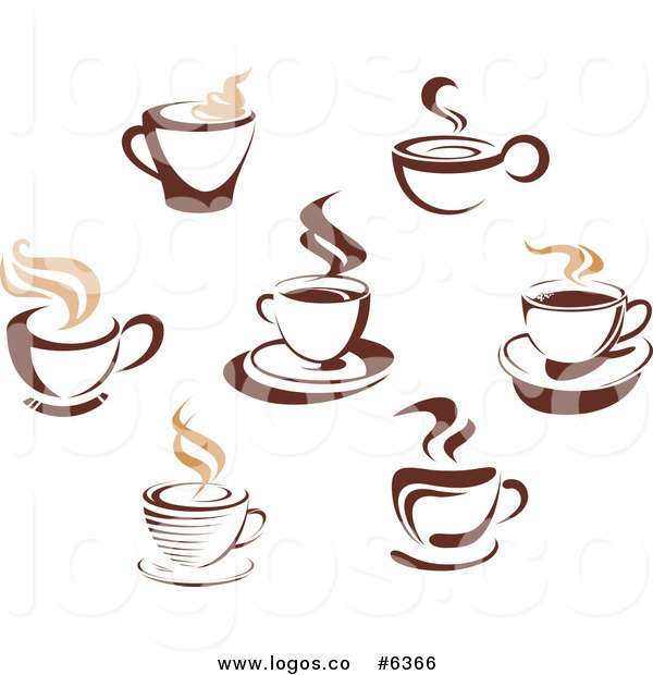 Coffee Cups And Steam Hot Logo