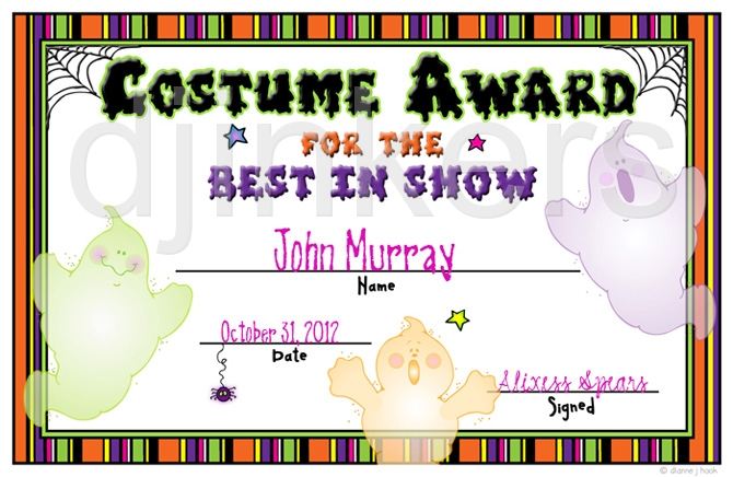 Costume Contest Activity Download