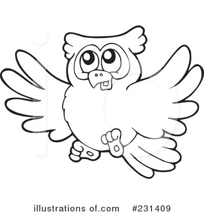 Cute Owl Black And White Clipart - Clipart Suggest