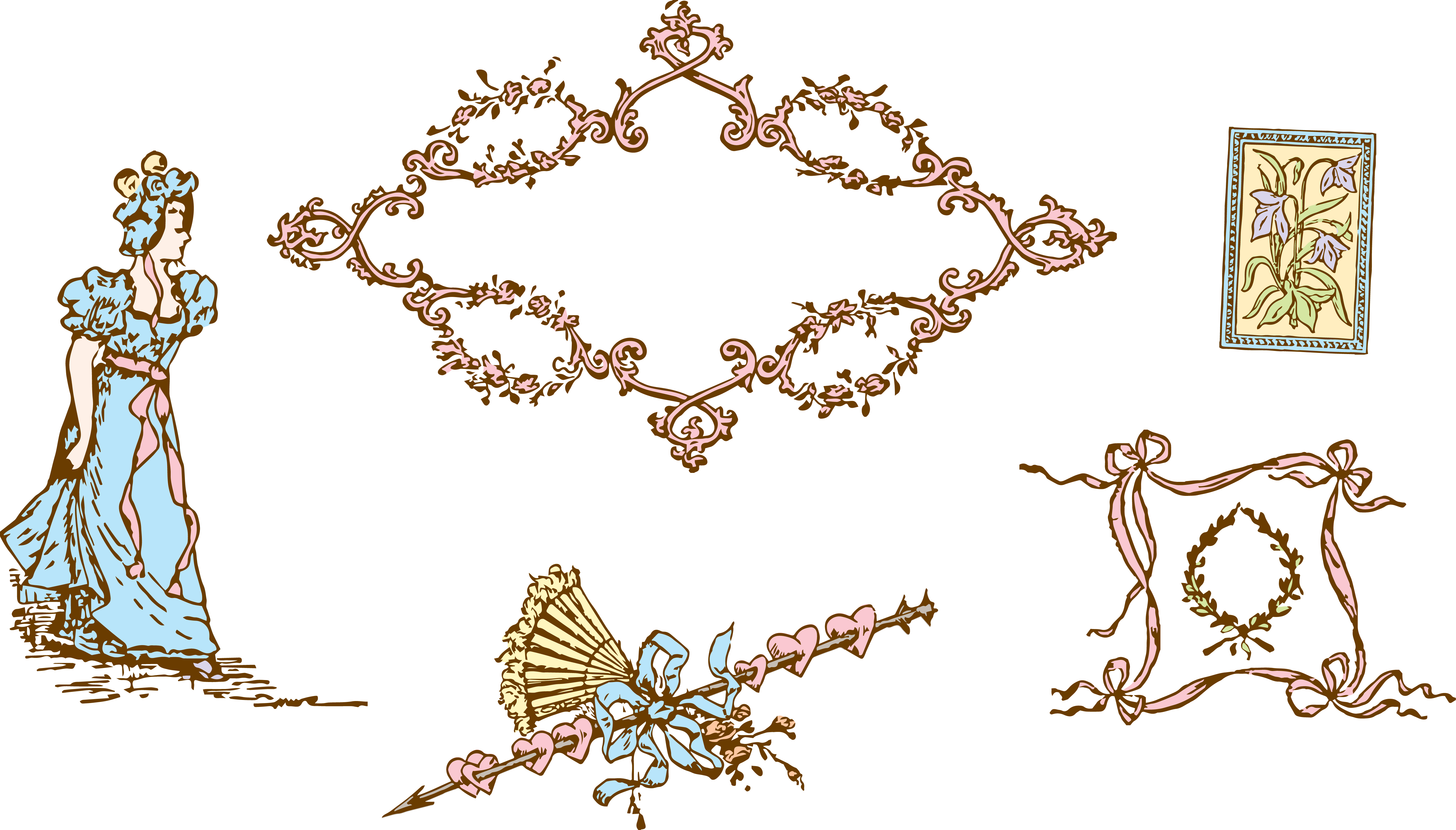 Victorian Vintage Borders Clipart - Clipart Kid