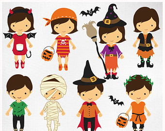 Halloween Costume Party Clipart   Halloweenfunky Com