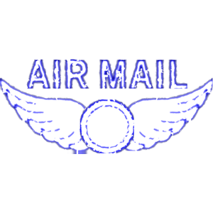 Mail Rubber Stamp Clipart Cliparts Of Vintage Air Mail Rubber Stamp