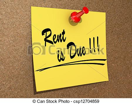 Rent Due Stock Photo   Rent Is Due