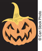 Smirk Pumpkin Vector Clipart And Illustrations