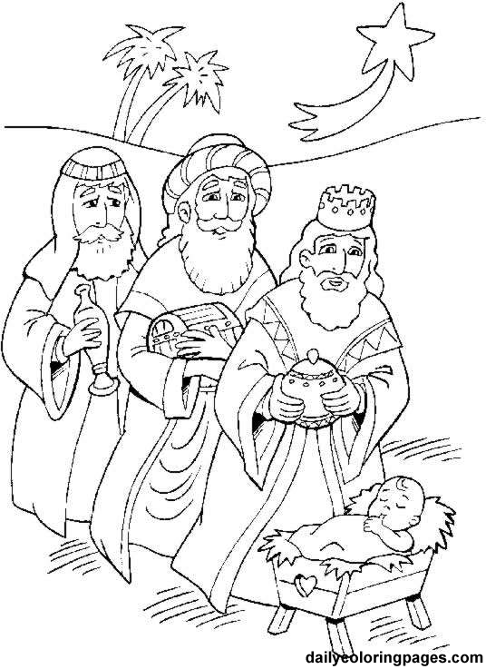 Three Kings Day Coloring Pages   Los Tres Reyes Magos   Let S