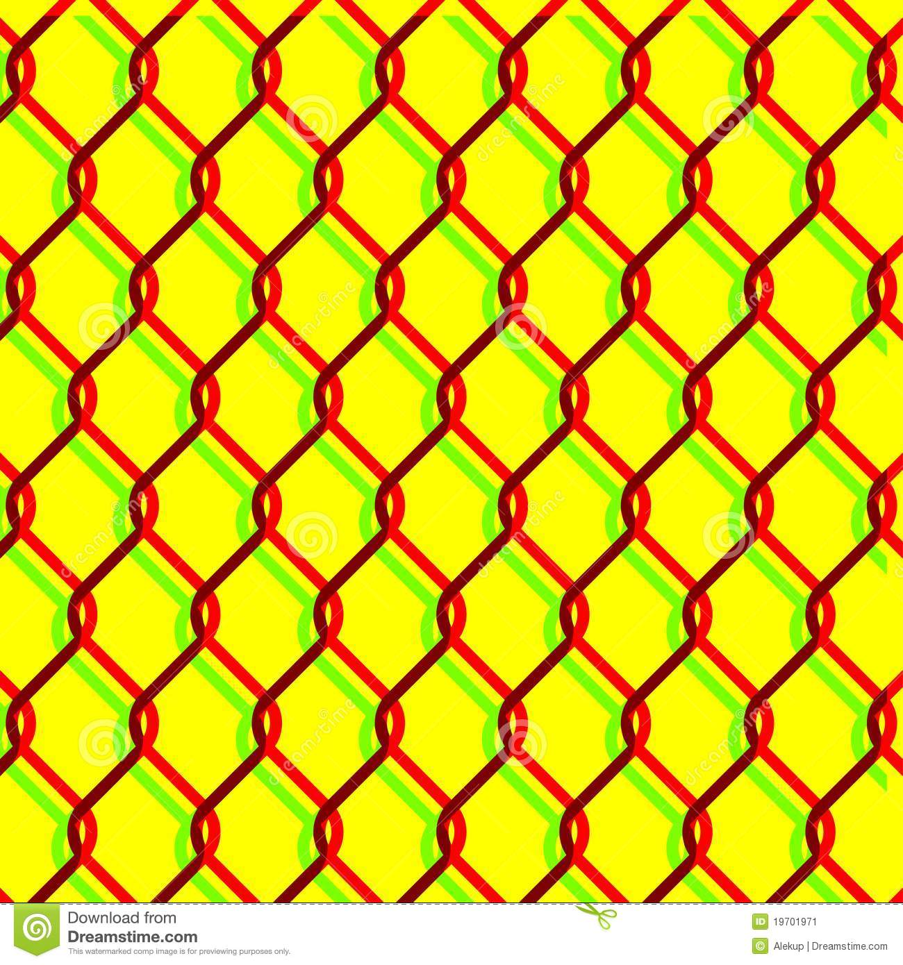 Vector Chain Link Fence Texture On Yellow Backgound