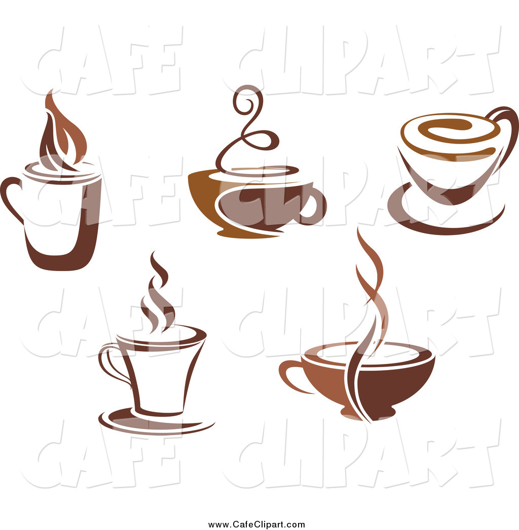 Vector Clip Art Of Brown Coffee Cup Designs By Seamartini Graphics