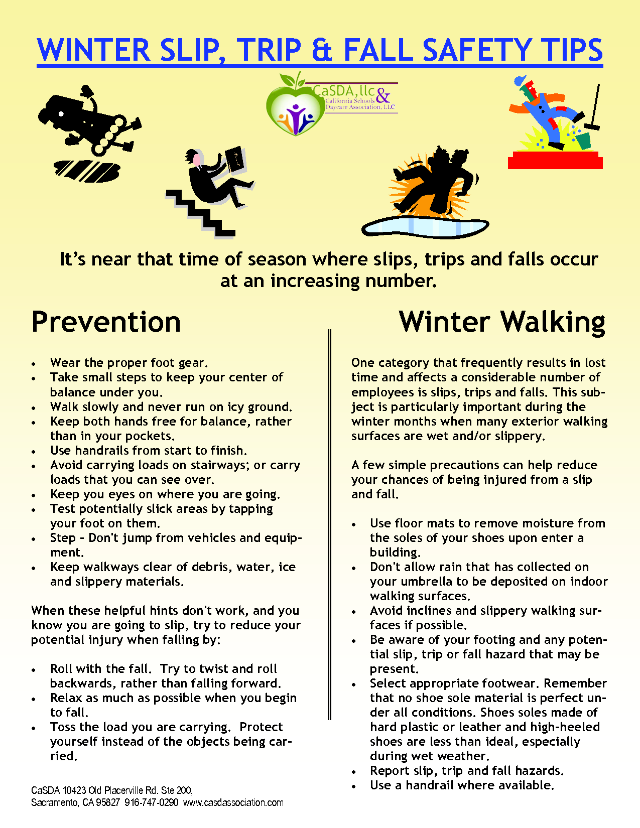 Winter Slip Trip Fall Safety Tips