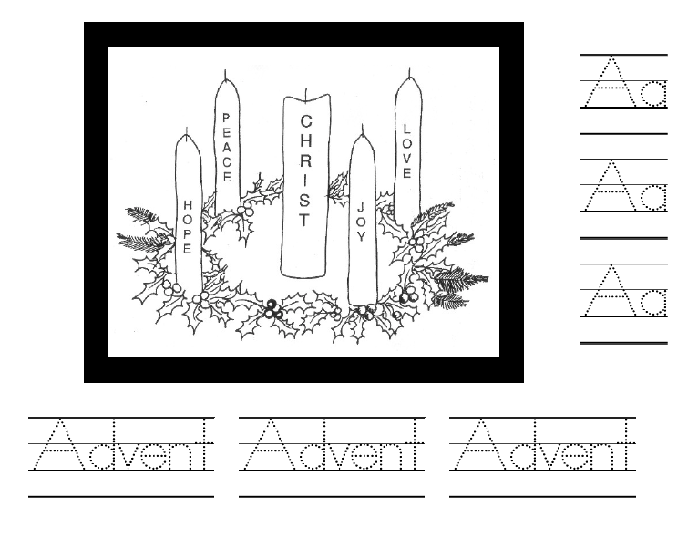 Advent Wreath Clipart Black And White Images   Pictures   Becuo
