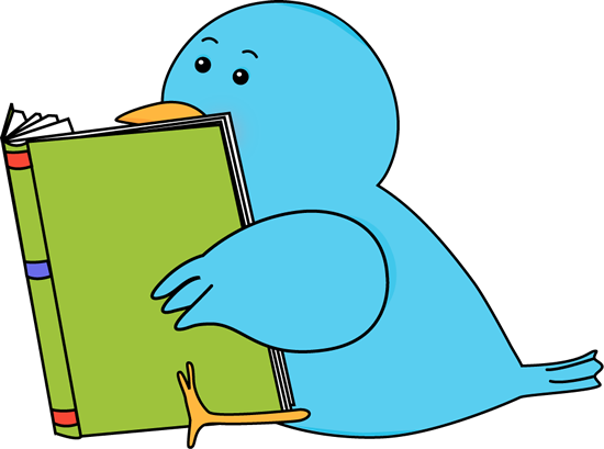 Bird Reading A Book Clip Art Image   Bird Sitting And Reading A Book