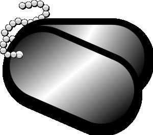 Dog Tags Clip Art At Clker Com   Vector Clip Art Online Royalty Free