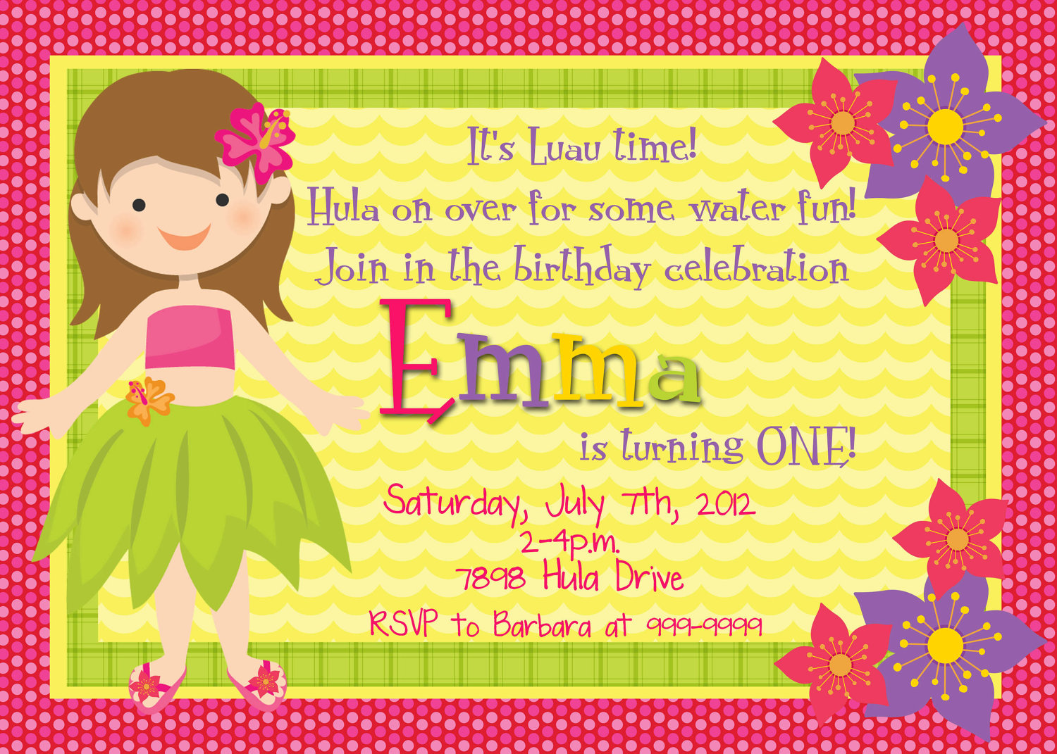 Printable Luau Invitation Clipart Clipart Kid – Tropical Birthday Invitations