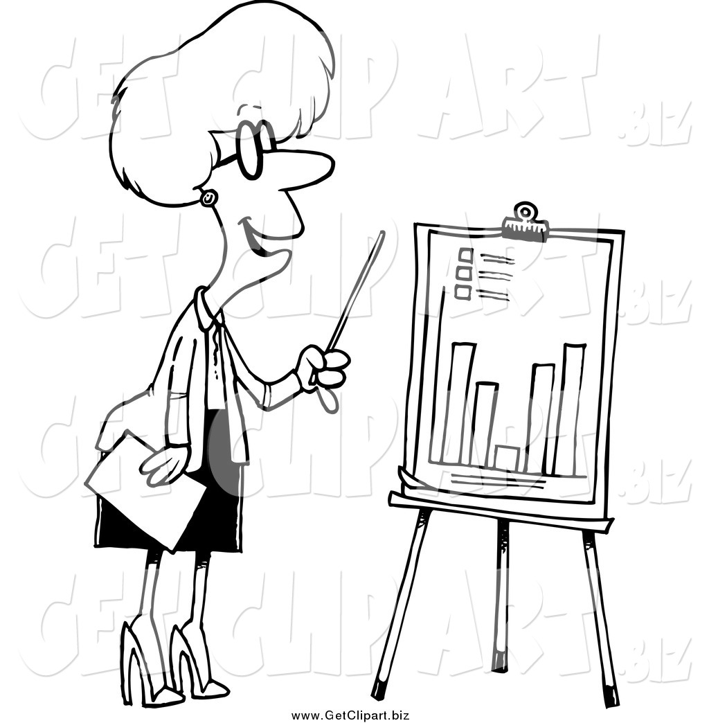 Graph Clipart Black And White Clip Art Of A Black And White
