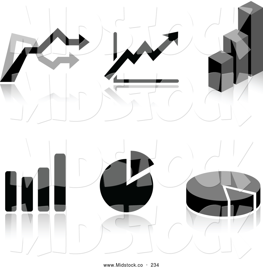 Graph Clipart Black And White Collage Of Black And White