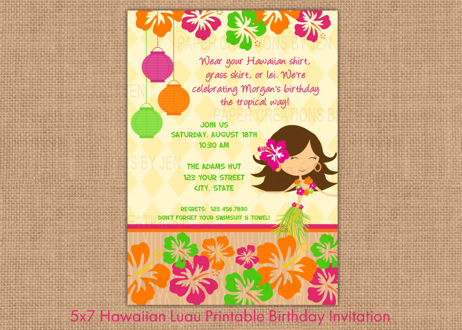 printable luau invitation clipart clipart kid hawaiian luau printable birthday invitation by papercreationsbyjen