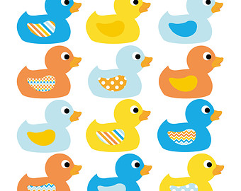 Popular Items For Ducks Clip Art On Etsy