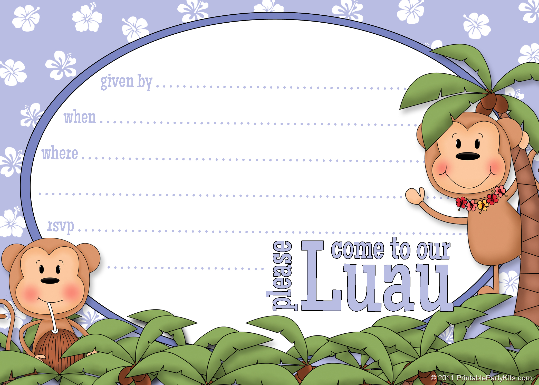 printable luau invitation clipart clipart kid printable luau party invite template printable party kits