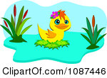 Royalty Free Vector Clip Art Illustration Of Two Simming Ducks By