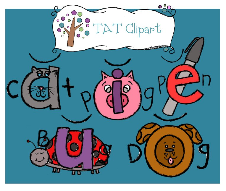 Tatclipart  Short Vowel Clipart