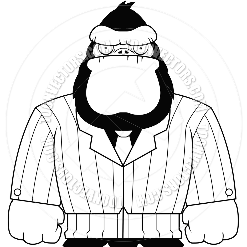 Back   Images For   Gorilla Clip Art Black And White