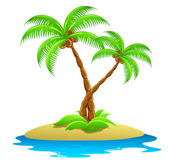 Island Palm Tree Clipart - Clipart Suggest