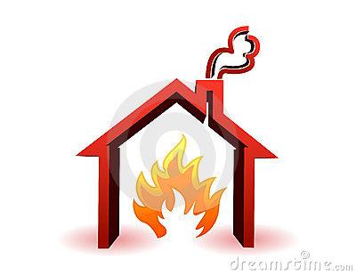 Burning House Royalty Free Stock Photography   Image  18904407
