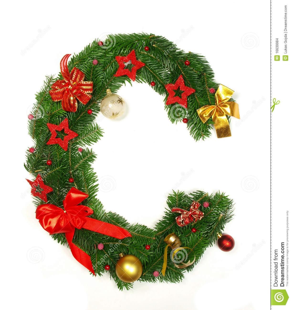 Christmas Alphabet Letter C Stock Images Image 16639984